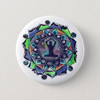 Cosmic Yoga Moon Phases 6 Cm Round Badge