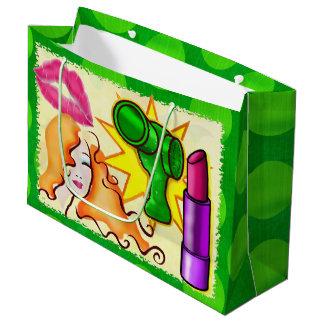 Cosmopolitan Pop Art WIDE GIFT Bag