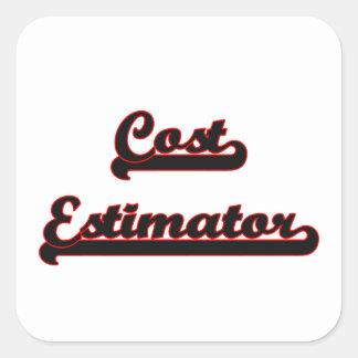 Cost Estimator Classic Job Design Square Sticker