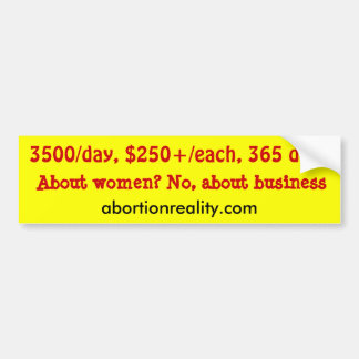 cost of abortion bumper sticker