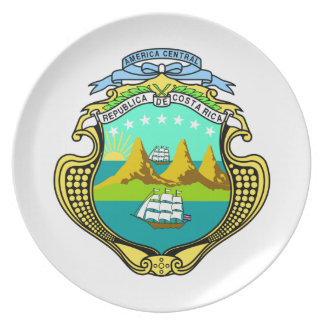 Costa Rica Coat Of Arms Plate