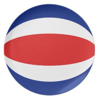Costa Rica Fisheye Flag Plate