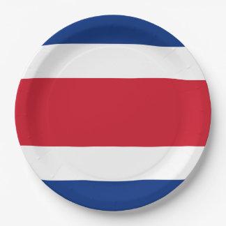 Costa Rica Flag Paper Plate