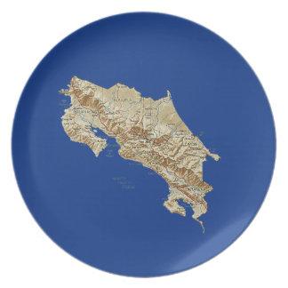 Costa Rica Map Plate