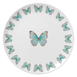 Costa Rica Round with Solitaire Melamine Plate