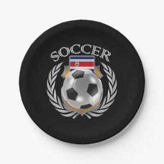 Costa Rica Soccer 2016 Fan Gear Paper Plate