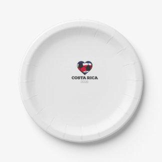 Costa Rica Soccer Shirt 2016 Paper Plate