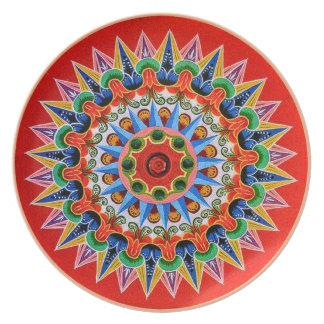 Costa Rican Folklore Plate