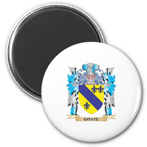 Coste Coat of Arms - Family Crest Refrigerator Magnets