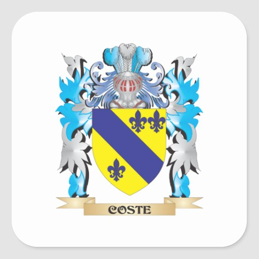 Coste Coat of Arms - Family Crest Sticker