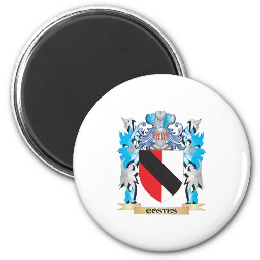 Costes Coat of Arms - Family Crest Refrigerator Magnet