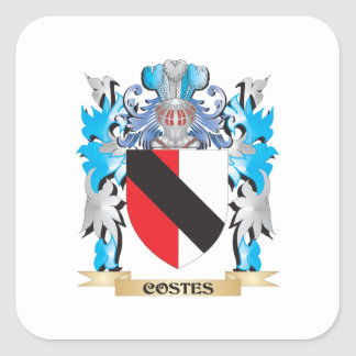 Costes Coat of Arms - Family Crest Square Sticker