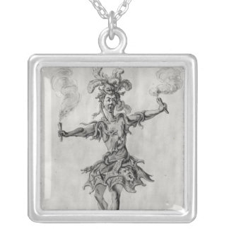 Costume design for the ballet 'Medusa' Silver Plated Necklace