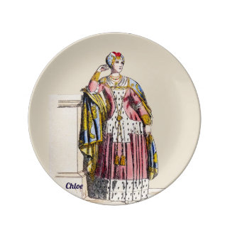 ~ COSTUMES ~A Lady of Rank~ Personalised CHLOE ~ Plate