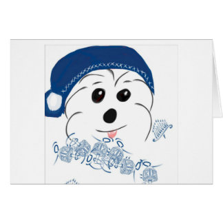 Coton de Tulear Happy Hanukkah Card