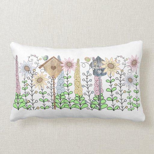 Cottage Garden Birdie Pillow
