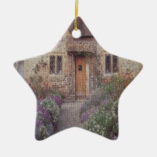 Cottage Garden Ceramic Star Decoration