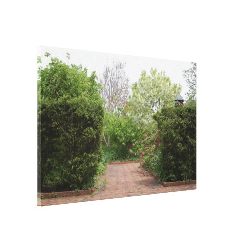 Cottage Garden Entrance Gallery Wrapped Canvas