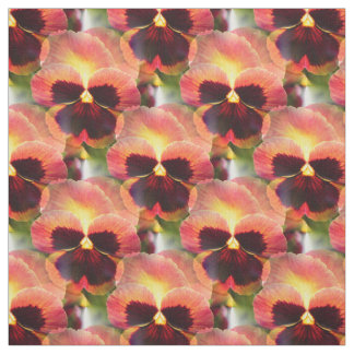 Cottage Garden Firefly Pansy - 4 inch Fabric