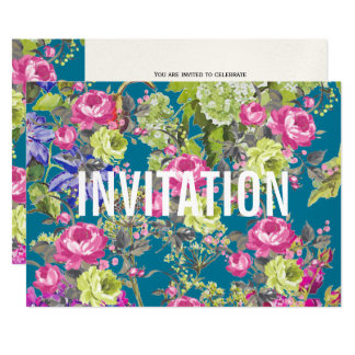 Cottage Garden Liberty Style   Party Invitation