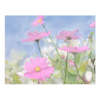 Cottage Garden Watercolor Postcard