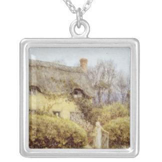 Cottage near Freshwater Square Pendant Necklace