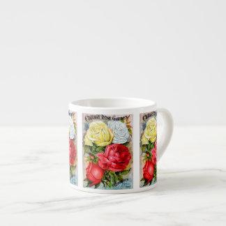 Cottage Rose Garden 6 Oz Ceramic Espresso Cup