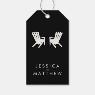 Cottage Wedding // Gift Tag // Black & Off-White