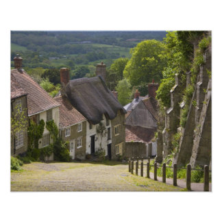 Cottages at Gold Hill, Shaftesbury, Dorset, Poster