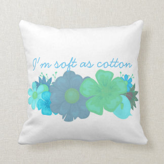 Cotton Baby I'm Soft As Cotton Square Throw Pillow
