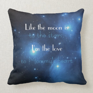 Cotton Baby Moon to Stars Celestial Nursery Decor Throw Pillow