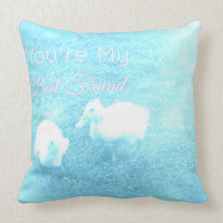 Cotton Baby You're My Best Friend Throw Pillow
