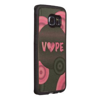 Cotton Candy Pink 3D Vape Heart Wood Phone Case
