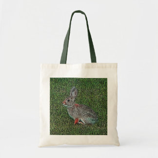 Cottontail Rabbit Sitting On Grass Tote Bag
