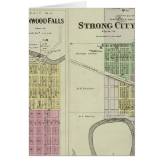 Cottonwood Falls, Strong City, Safford, Kansas Card