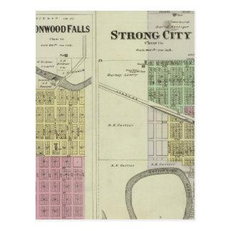Cottonwood Falls, Strong City, Safford, Kansas Postcard