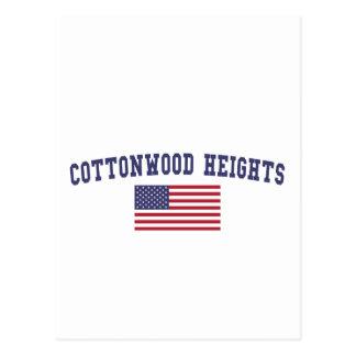 Cottonwood Heights US Flag Postcard