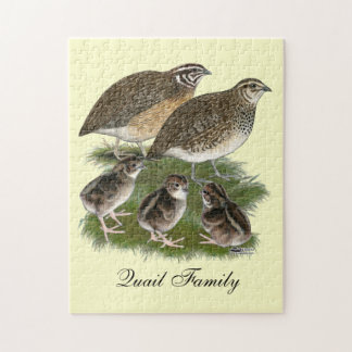 Coturnix Quail Family Jigsaw Puzzle