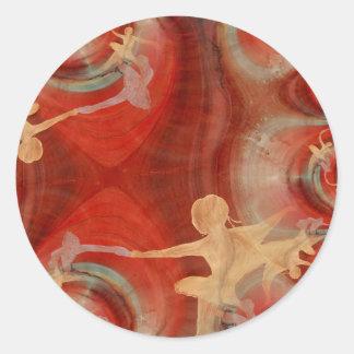 Couleur D'une Danse De Ballet 3 Round Sticker