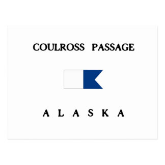 Coulross Passage Alaska Alpha Dive Flag Postcard