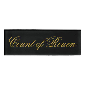 Count of Rouen Name Tag