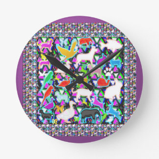 COUNT the birds animals butterfCli3y Round Clock