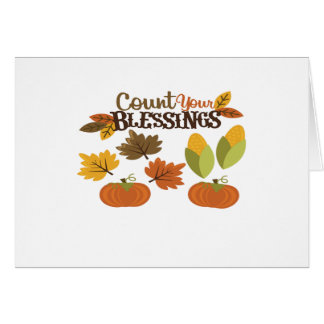 Count your Blessings Happy Thanksgiving Card