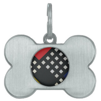 Counter composition XV by Theo van Doesburg Pet Name Tag