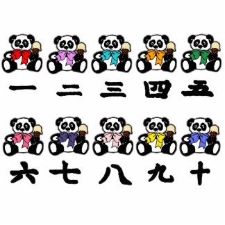 Counting Chinese Pandas Photo Sculpture Decoration