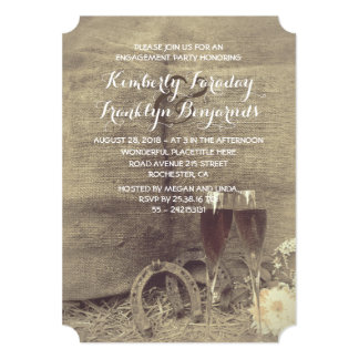 Country and Rustic Engagement Party Card