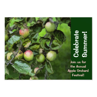 "Country Apple Orchard Festival Invitations 5"" X 7"" Invitation Card"