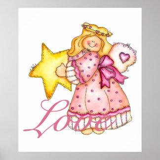 Country Art Star Girl - Love Poster
