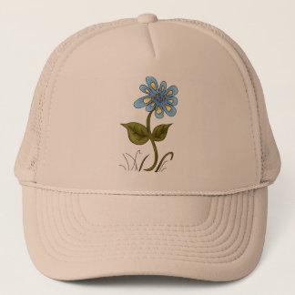 Country Blue Flower Trucker Hat