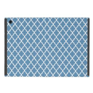 Country Blue Trellis Preppy Quatrefoil Moroccan iPad Mini Cover